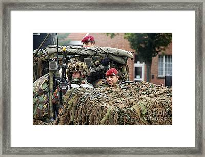 A Recce Or Scout Team Of The Belgian Framed Print by Luc De Jaeger