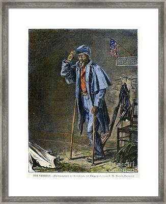 Civil War: Black Troops Framed Print by Granger
