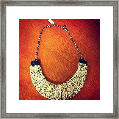 $15 Collar. #collar #costumejewelry Framed Print