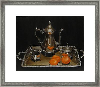 15 Oranges Framed Print by Sherry Robinson