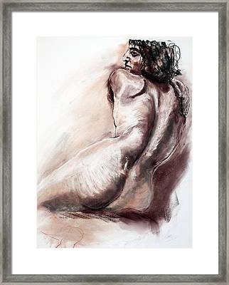 Framed Print featuring the drawing 15259 Nice Light by AnneKarin Glass