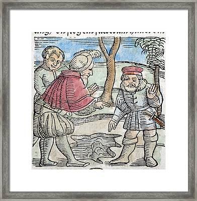 1557 Lycosthene 1492 Einsisheim Meteorite Framed Print