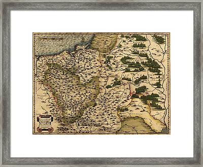 1570 Map Of  Poland. Polands Political Framed Print by Everett