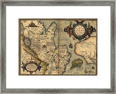 1570 Map Of Tartaria Spanning All Framed Print by Everett