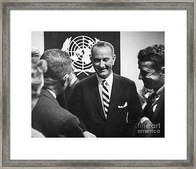 Lyndon Baines Johnson Framed Print by Granger