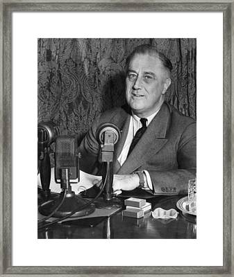 President Franklin D. Roosevelt Framed Print by Everett