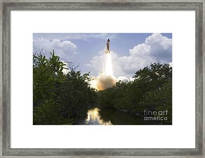 Space Shuttle Atlantis Lifts Framed Print by Stocktrek Images