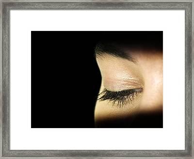 Woman's Eye Framed Print