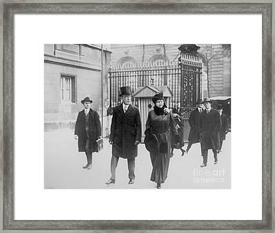 Woodrow Wilson (1856-1924) Framed Print