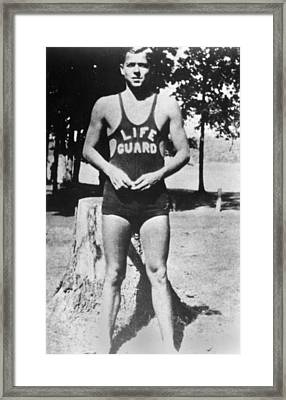 16 Year Old Ronald Reagan As A Young Framed Print