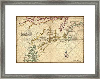 1639 Maps Of British Colonies In North Framed Print by Everett