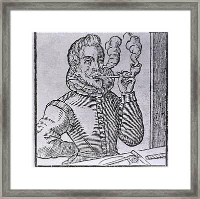 16th Century Dutchman Smoking Framed Print by Everett