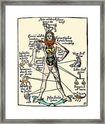 16th-century Medical Astrology Framed Print by Cordelia Molloy