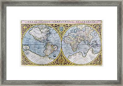 16th Century World Map Framed Print by Georgette Douwma