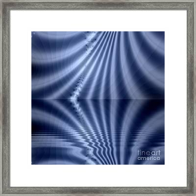 Fractal Reflection Framed Print by Odon Czintos
