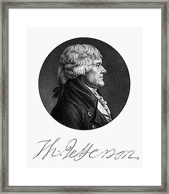Thomas Jefferson (1743-1826) Framed Print