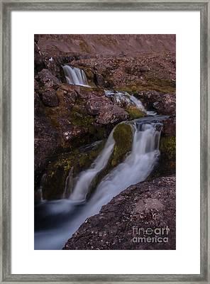 Waterfall Framed Print by Jorgen Norgaard