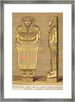 1724 First British Museum Sarcophagus Framed Print by Paul D Stewart