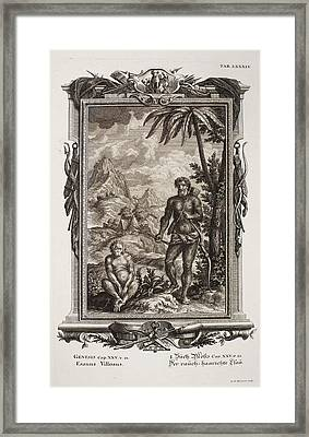 1731 Johann Scheuchzer Hairy Esau Bible Framed Print by Paul D Stewart