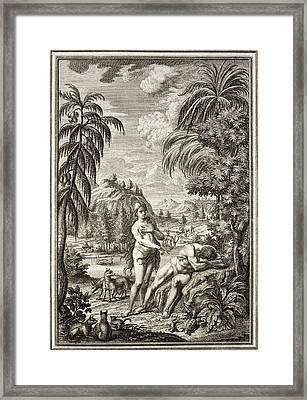 1731 Scheuchzer Creation Adam & Eve Framed Print by Paul D Stewart