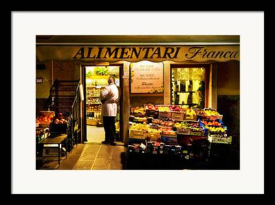 Alimentari Framed Prints