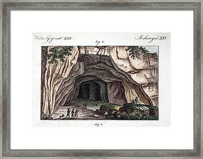 1770 Maastricht Mosasaur Cave Entrance Framed Print