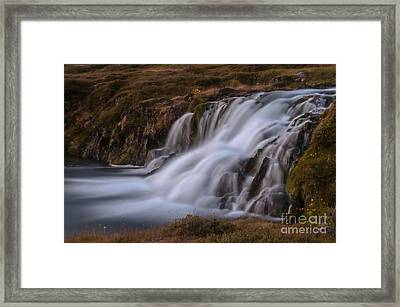 Waterfall Framed Print by Jorgen Norgaard