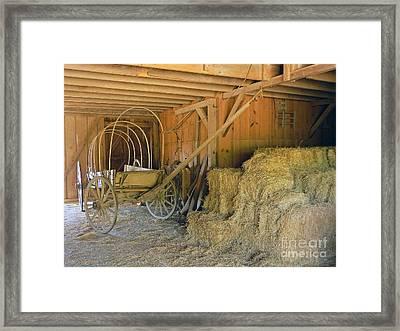 1800's Barn Framed Print