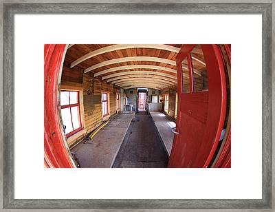 1800's Train Car Framed Print
