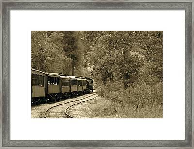 1800's Train Framed Print