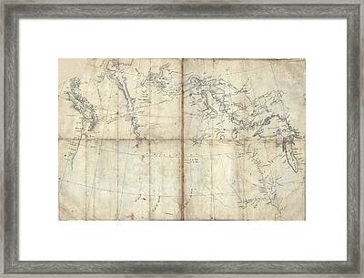 1803 Lewis And Clark Map Framed Print