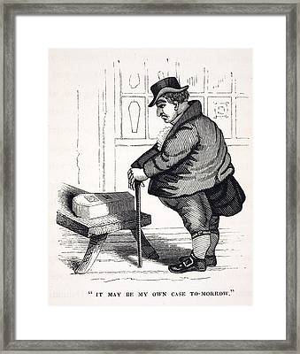 1836 Caricature Of Victorian Mortality Framed Print by Paul D Stewart