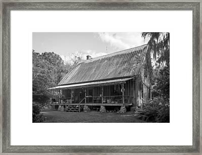 1850's Florida Cracker Farmhouse Framed Print by Lynn Palmer