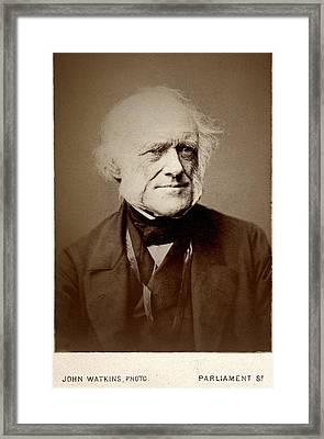 1860's Charles Lyell Portrait Photo Cdv Framed Print by Paul D Stewart