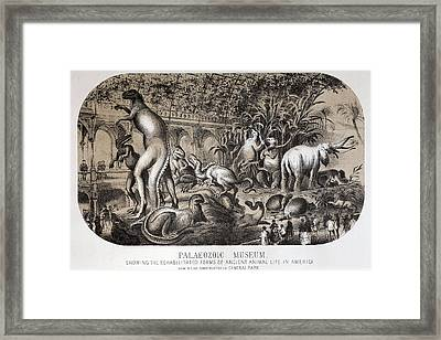 1869 Central Park Dinosaurs Hawkins Full Framed Print by Paul D Stewart