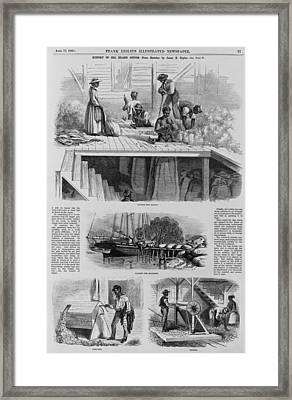 1869 Illustration Show Ex-slaves, Now Framed Print by Everett