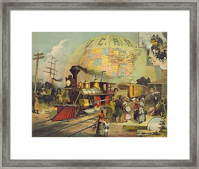 1882 Poster For The Illinois Central Framed Print