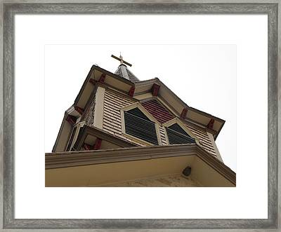 1886 Norse Church In Texas Framed Print by Rebecca Cearley