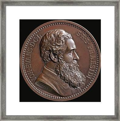 1887 Bronze Of Sir John Evans Antiquiary Framed Print by Paul D Stewart