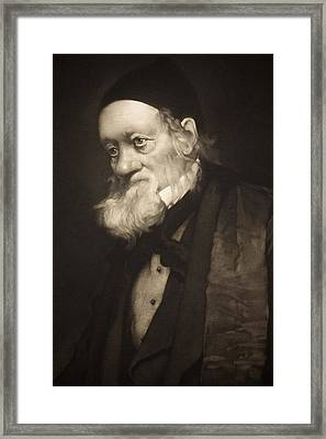 1889 Sir Richard Owen Portrait Old Age Cu Framed Print by Paul D Stewart
