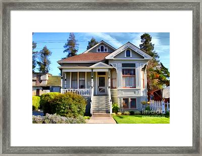 1890s Queen Anne Style House . 7d12965 Framed Print by Wingsdomain Art and Photography