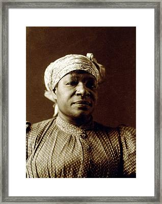 1897 Portrait Of An African American Framed Print by Everett