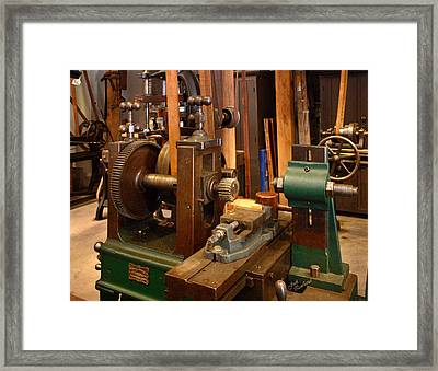18th Century Machine Shop Framed Print by Judi Quelland