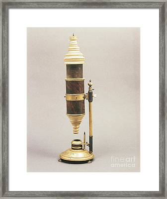 18th Century Microscope Framed Print by Tomsich