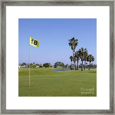 18th Hole On A Golf Course Framed Print by Skip Nall