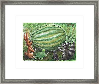 19 - Cypress Creek Wma - Watermelon Framed Print by Rob Smith