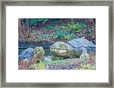 Dinosaur Framed Print by Dawn OConnor
