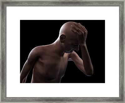 Headache, Conceptual Artwork Framed Print by Sciepro