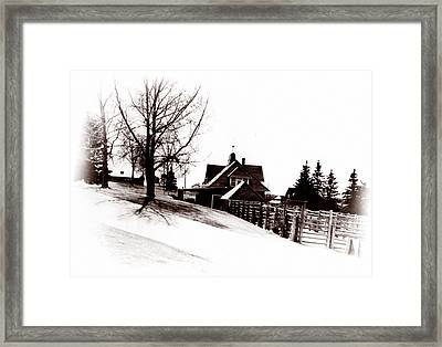 1900 Farm Home Framed Print by Marcin and Dawid Witukiewicz