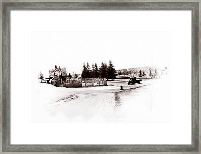 1900 Farm Framed Print by Marcin and Dawid Witukiewicz